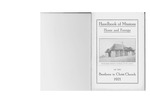 1921 Handbook of Missions
