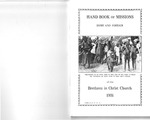 1931 Handbook of Missions