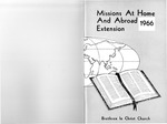 1966 Handbook of Missions by Brethren in Christ Church